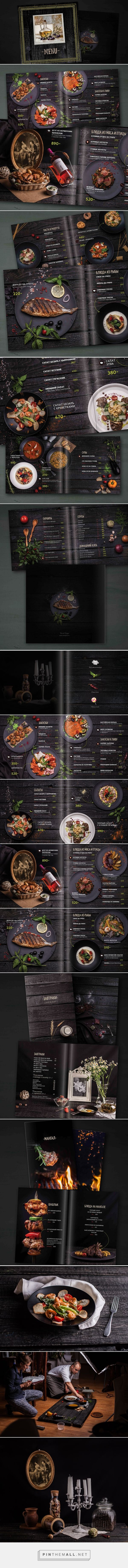 Design menu for restaurant Moscow on Behance https://www.behance.net/gallery/42830329/Design-menu-for-restaurant-Moscow - created via https://pinthemall.net