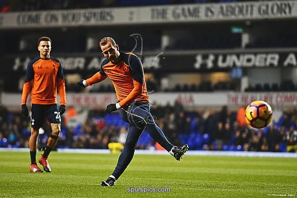 LONDON, ENGLAND - DECEMBER 14: Harry Kane of Tottenham Hotspur shoots during the warm up prior to kick off during the Premier League match between Tottenham Hotspur and Hull City at White Hart Lane on December 14, 2016 in London, England