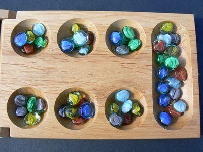 Christmas in Africa math activity - play mancala