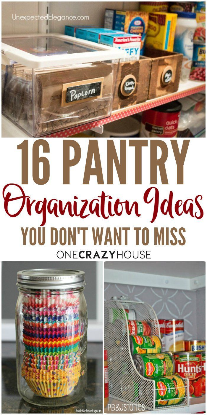 Overwhelmed by the clutter in your pantry? Check out these organizations ideas that will help regain order and sanity.