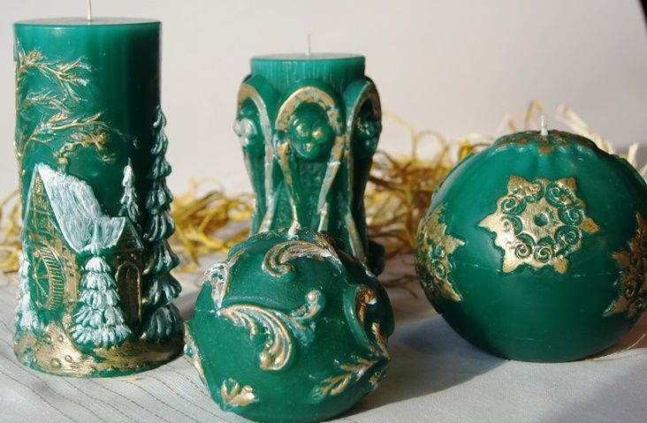 Christmas collection in the green