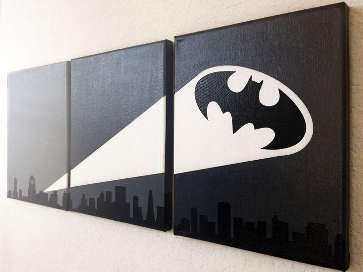 Bat Signal Ombre Canvas Art by adapperduck on Etsy https://www.etsy.com/listing/210588220/bat-signal-ombre-canvas-art