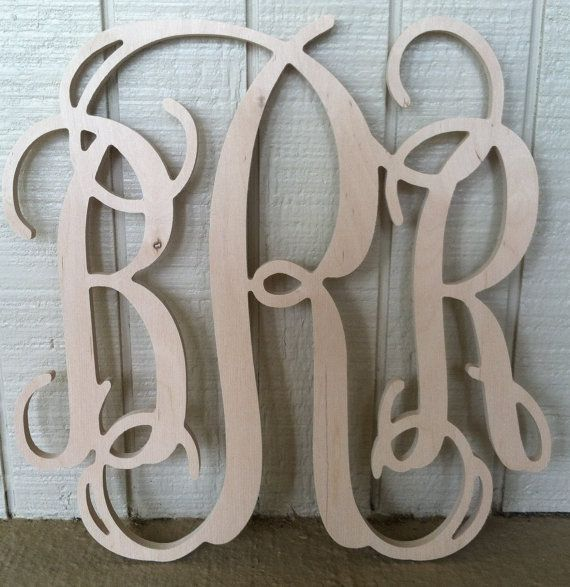 24 inch Wooden Monogram Letters by LeagueofLetters on Etsy, $24.50