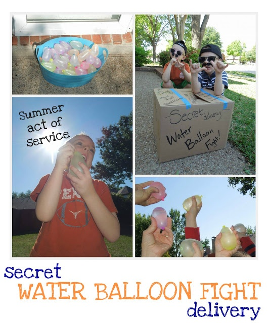 "Pennies of Time: ""Penny of Time"" Adventure: Secret Water Balloon Fight Delivery.  Our first act of Summer Fun Service . . . Secret delivery of a water balloon fight.  Our act of kindness to share with #KidsforKindness.  Teach children to serve."
