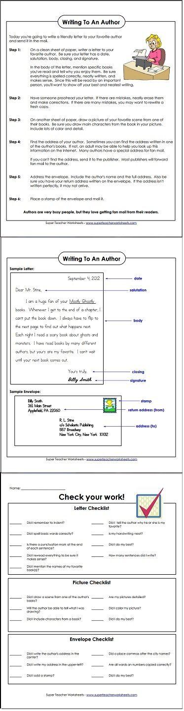 36 best language arts super teacher worksheets images on pinterest homeschool author. Black Bedroom Furniture Sets. Home Design Ideas