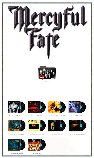 Album Art Icons: Mercyful Fate Discography Folders (ICO & PNG)