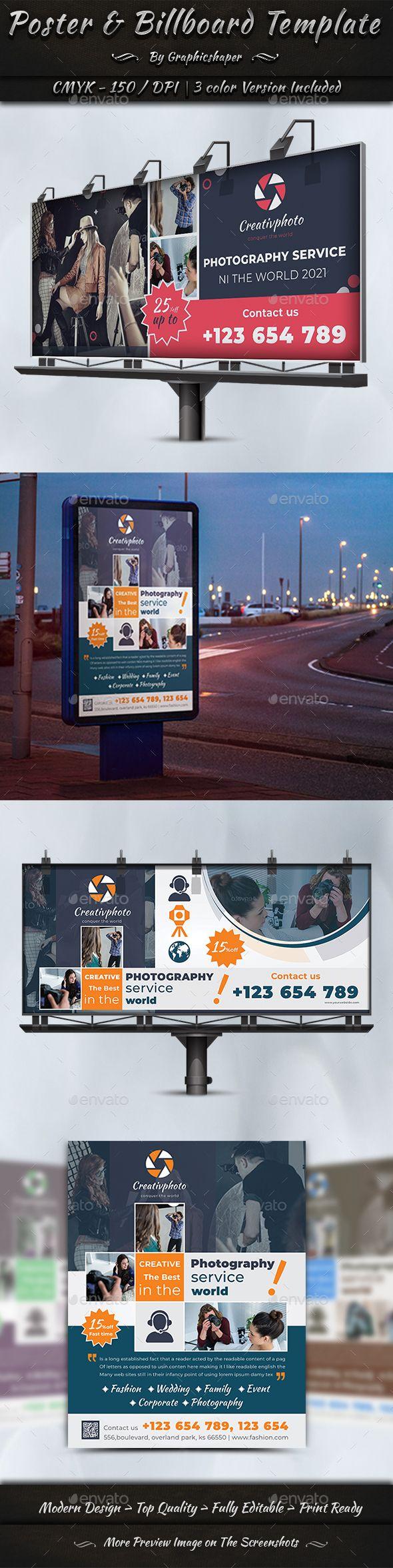#Poster & #Billboard #Template - Signage Print Templates