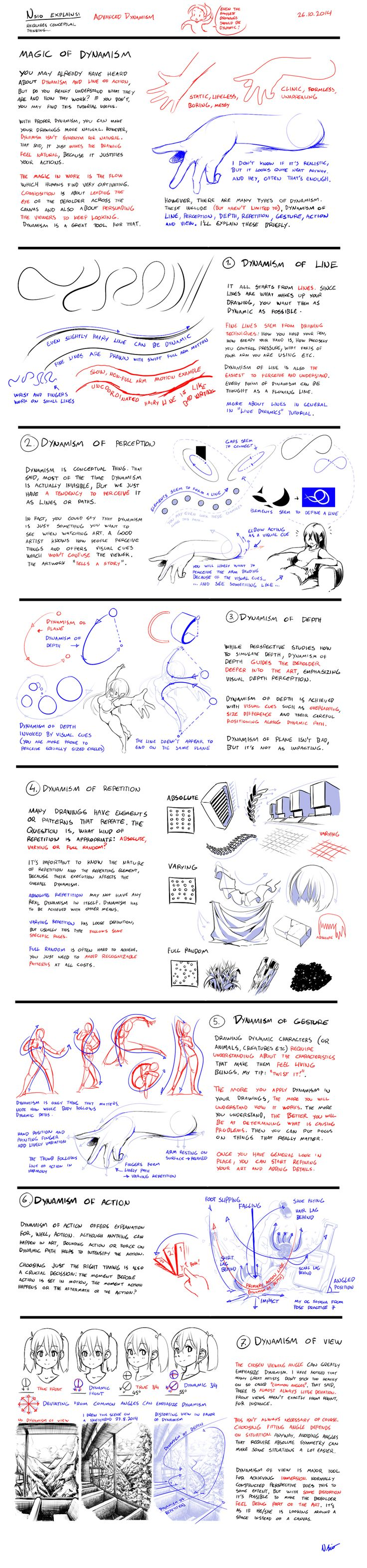 Nsio Explains: Advanced Dynamism by Nsio on DeviantArt - elements of dynamic drawing
