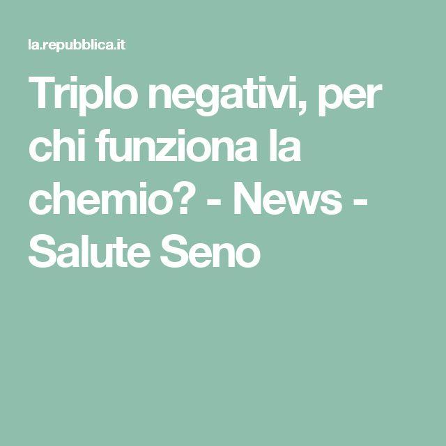 Triplo negativi, per chi funziona la chemio?  -  News - Salute Seno