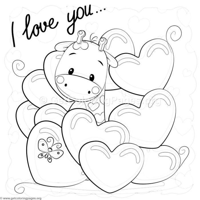 Download Free I Love You Giraffe Coloring Pages Coloring