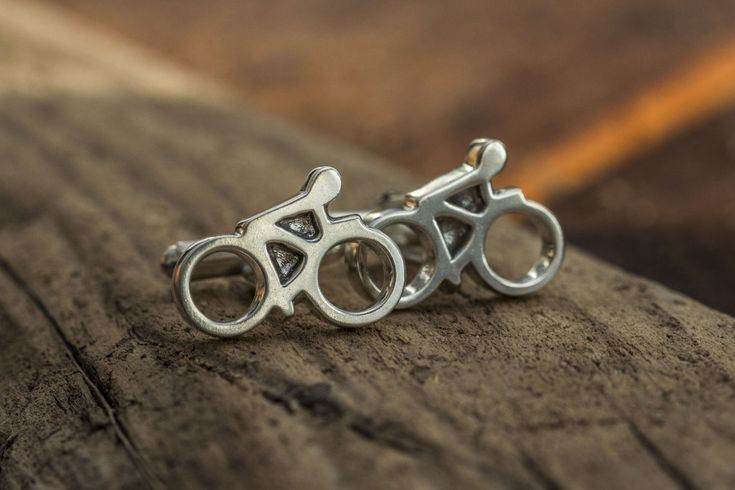 Bicycle Cufflinks  www.silverkayak.com