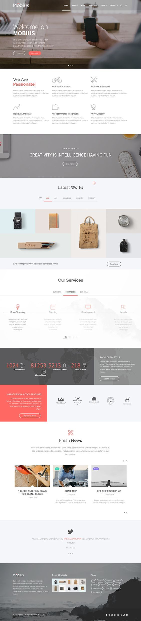 Mobius - Responsive Multi-Purpose WordPress Theme on Web Design Served: