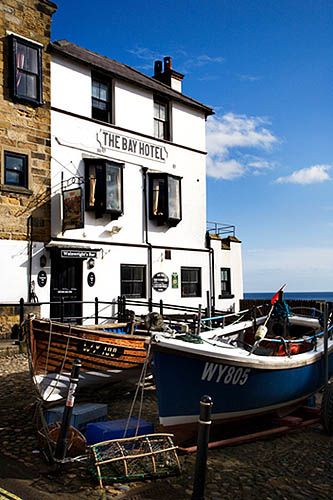 Fishing Boats at Robin Hoods Bay North Yorkshire England by © Mark Sunderland www.marksunderland.com on Flickr