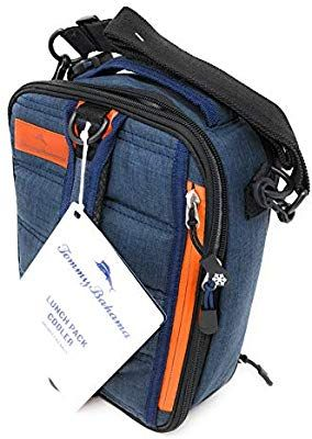 f4e16f58bc3f0a Amazon.com  Tommy Bahama Expandable Navy Orange Lunch Bag Cooler  Kitchen    Dining
