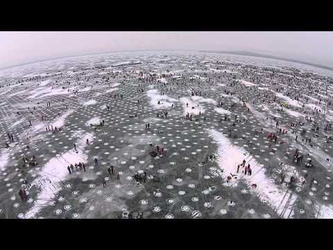An Aerial View Of The World's Biggest Charity Ice Fishing Contest | Field & Stream