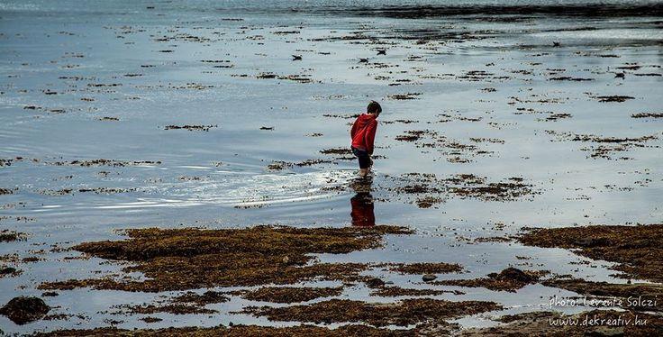 Walking through The Water alone boy