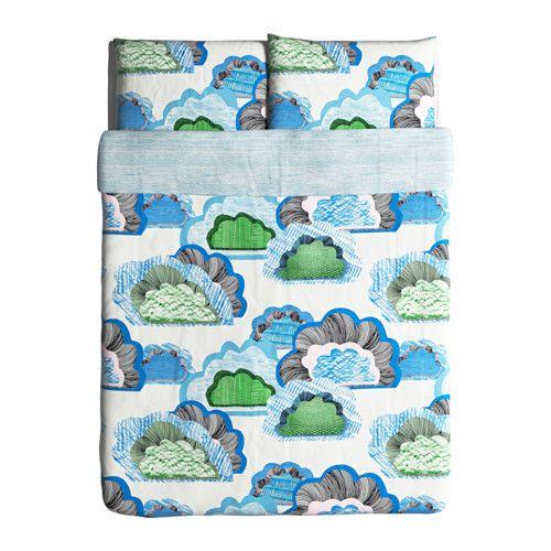 doftranka duvet cover and pillowcases white multicolor - Duvet Covers Ikea
