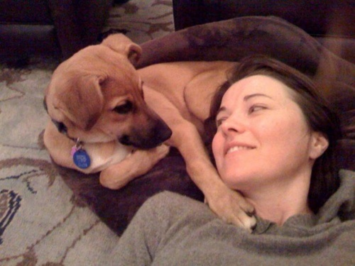 lucy lawless and her pooch cool people with animals