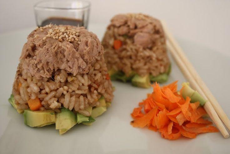 Torres de aguacate, arroz y atún | Cocina y Comparte | Recetas de Ana Arizmendi de Fácil de Digerir y Lunes sin Carne