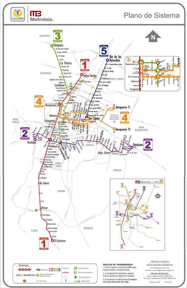 Lineas Metrobus DF - Movimet.com