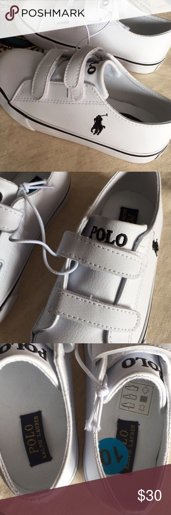 Toddlers Polo Ralph Lauren shoes Brand new Polo Ralph Lauren Shoes.. Size 10 toddler boys. Velcro for easy on and off. My son outgrew them before getting to wear them.. These are so cute and can go with so many outfits! Polo by Ralph Lauren Shoes Sneakers