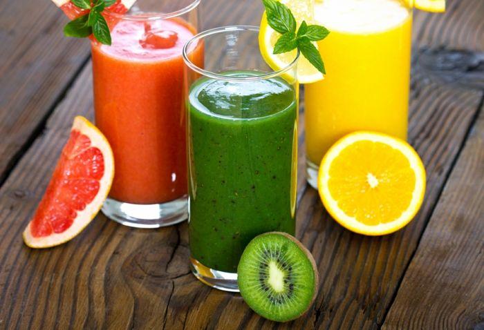 smoothie rezepte frische farben vitamine