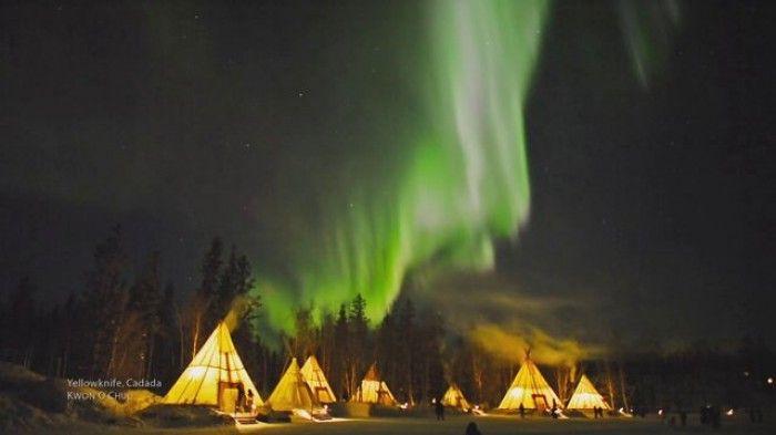 Kuzey Işıklarını Sanki Kanada'dan İzliyormuş Hissi Veren Bu Videoyu Mutlaka İzlemelisiniz! www.4finite.com