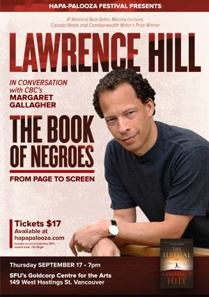 Hapa-Palooza presents Lawrence Hill in conversation with Margaret Gallagher September 17, 2015