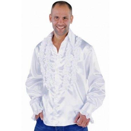Déguisement chemise disco blanche homme luxe