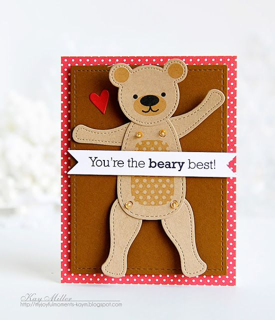 You're The Beary Best Card Kay Miller for Papertrey Ink (December 2016)