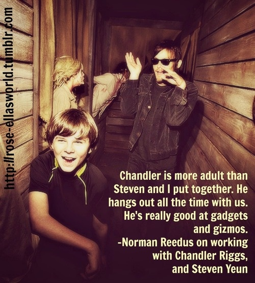 My favorite characters and actors. Chandler Riggs-Carl Grimes. Norman Reedus-Daryl Dixon