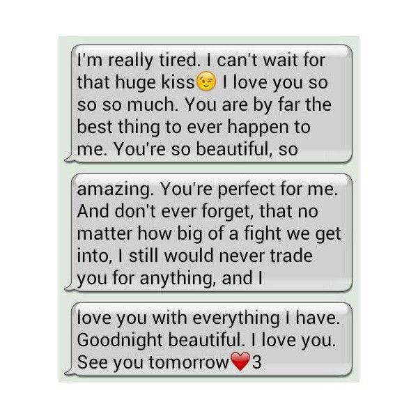 Great Goodnight Texts Tumblr Liked On Polyvore L ️VE Pinterest Goodnight Text.