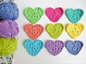 Sweet Heart Crochet Pattern by www.MyRoseValley.blogspot.com © Annette Ciccarelli 2013