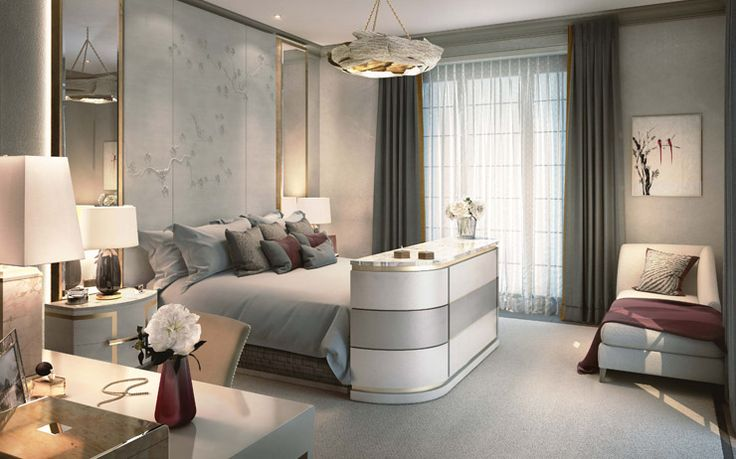 Modern Master Bedroom Knightsbridge Private Park Moscow