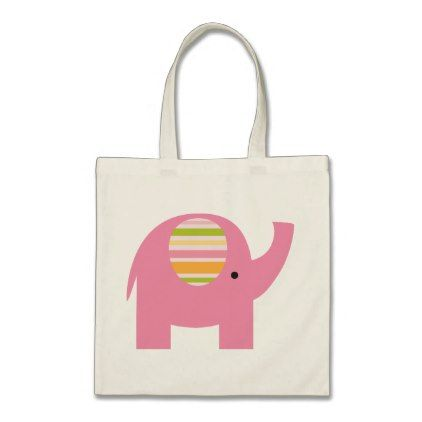 Cute Pink Elephant Tote Bag - baby shower ideas party babies newborn gifts