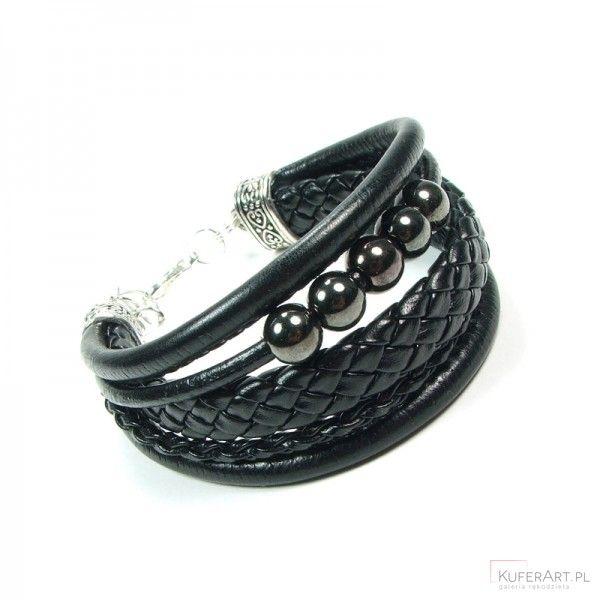 Rock - czarna bransoletka - Bransoletki - Biżuteria artystyczna