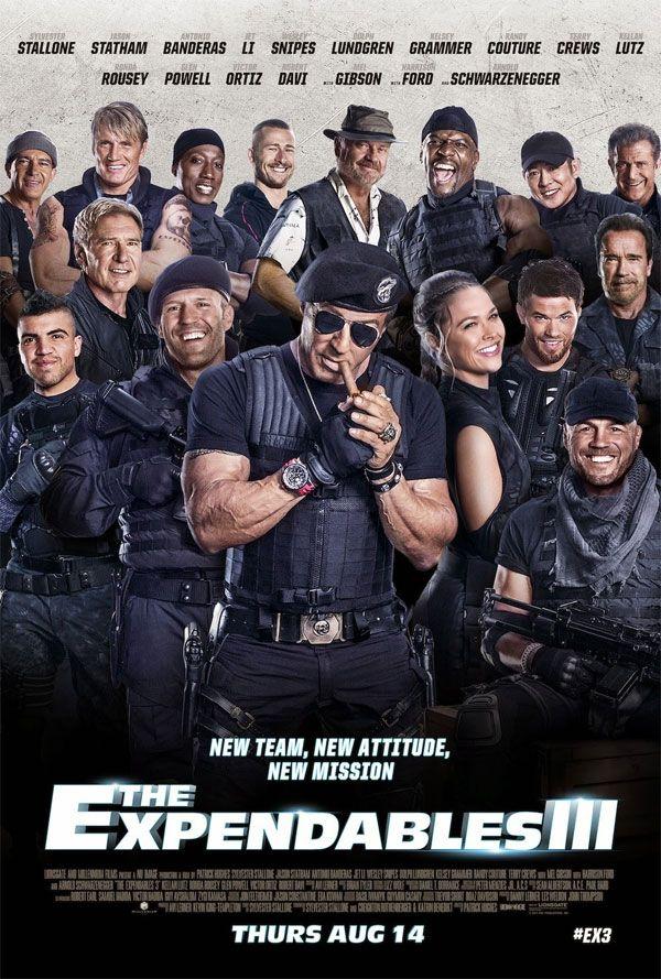 """Elenco reunido no cartaz do filme """"Os Mercenários 3″ http://cinemabh.com/imagens/elenco-reunido-no-cartaz-do-filme-os-mercenarios-3"""