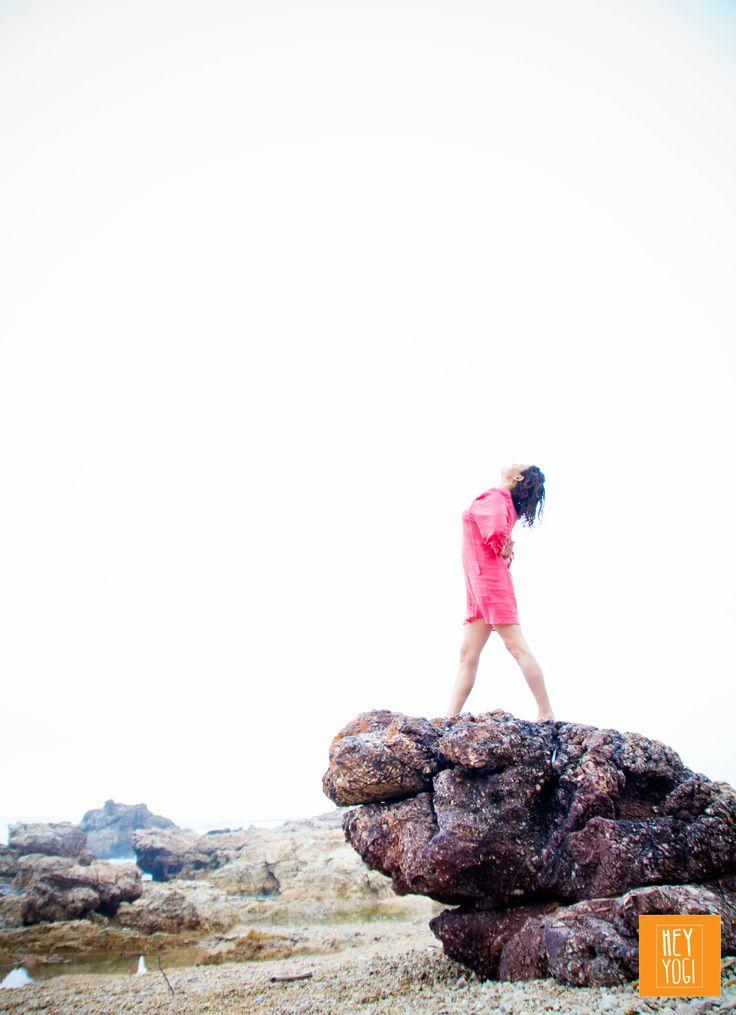 Parsvattonasana opening with Rachel Zinman.  Yoga photography by Nora Wendel from HEY YOGI.  Plettenberg Bay, South Africa, 2015