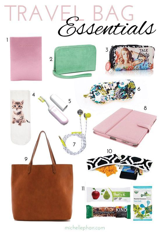 Must haves in your travel bag. // Travel Bag Essentials
