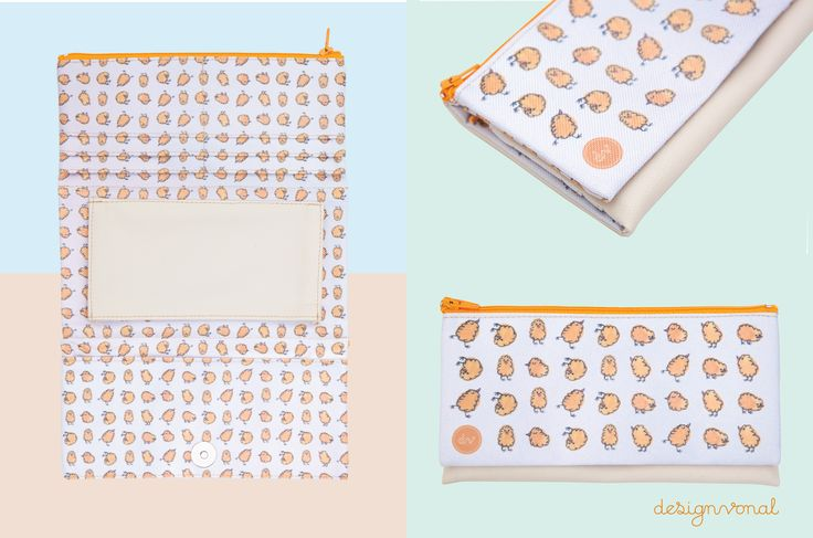 BABY CHICKS Women's wallet by Designvonal available at dvshop.hu // Pattern design by Tünde Dicső