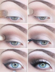 Einfaches Schul- und Arbeits Make-up.