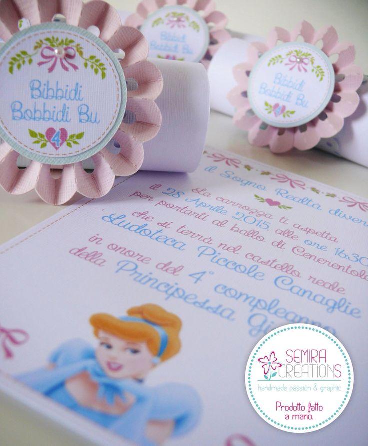 L'invito a tema 'cinderella ballet' per il Compleanno della piccola Giorgia