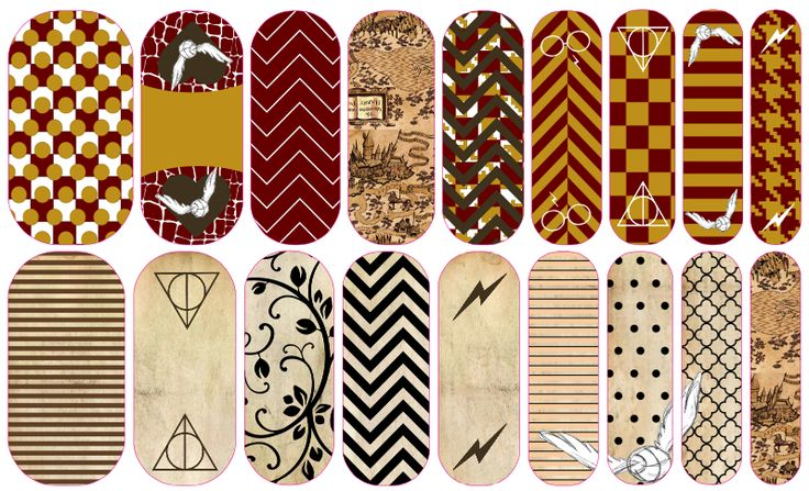 Harry Potter inspired custom Jamberry nail wraps; click the picture to order yours today! OR... Create your own at laquitasellers.jamberrynails.net/nas/