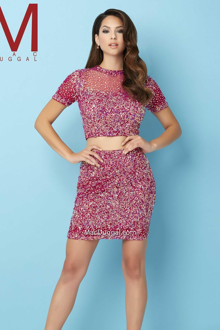 14 best Short Two Piece Formals images on Pinterest | Beading ...