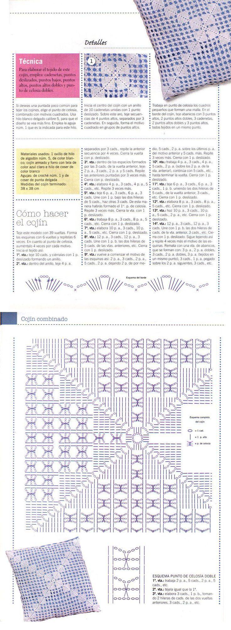 cuscino ::ArtManuais- Tecnicas de Artesanato   Moldes para Artesanato   Passo a Passo::