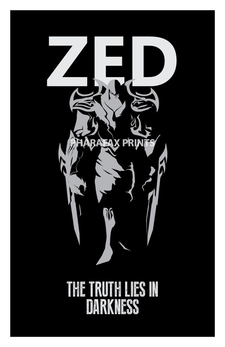 Zed League of Legends Print by pharafax on Etsy, $12.00