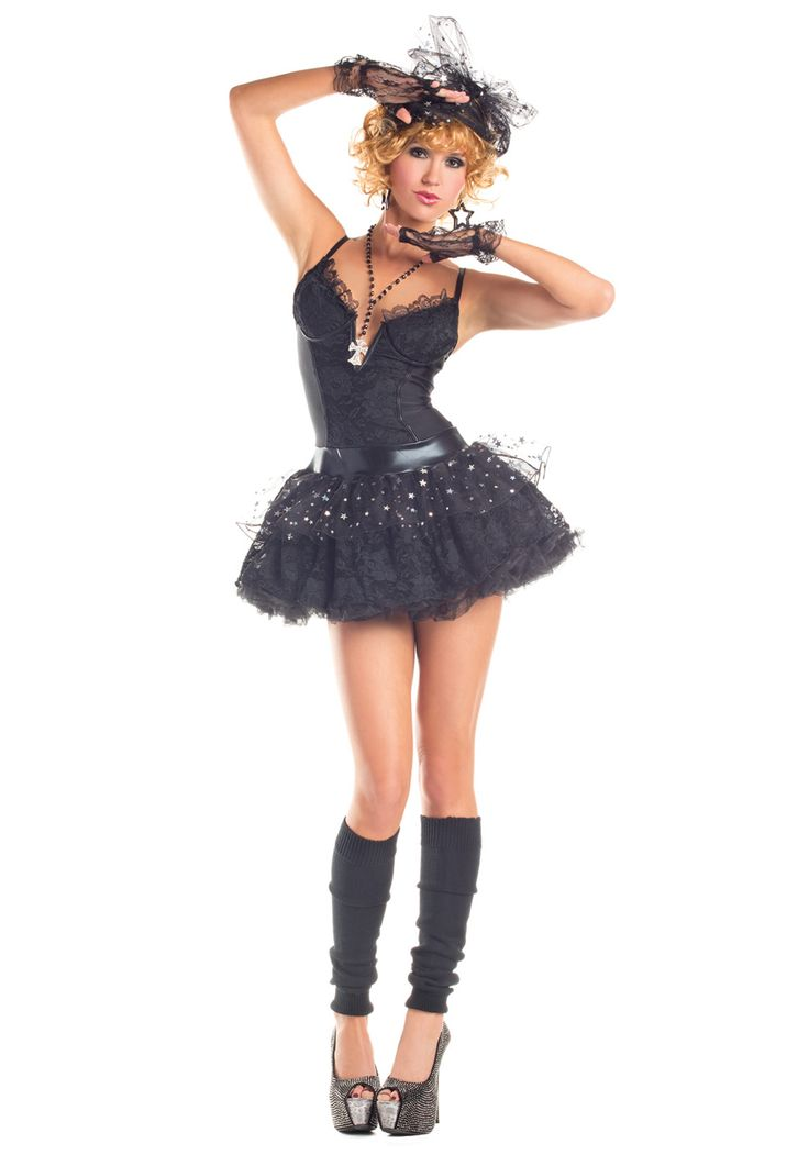 Women's Material Pop Star Costume