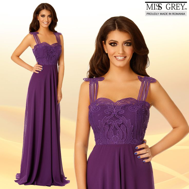 Spectacular in every way, the purple Irene dress will give your appearance a note of regality, and elegance.