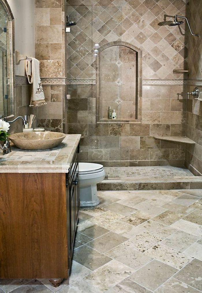 Carrelage Travertin Salle De Bain Travertine Bathroom