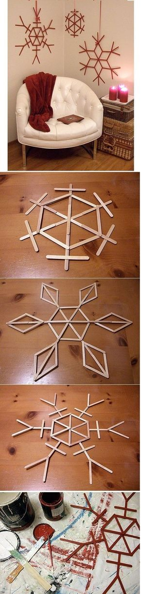 do this with straws and paint gold???!!!